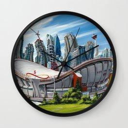 Downtown Calgary Skyline Wall Clock
