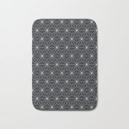 Asanoha pattern grey Bath Mat