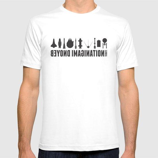Beyond imagination: Battlestar Galactica postage stamp  T-shirt