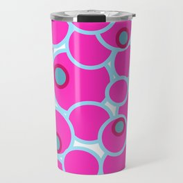The pink bubble design Travel Mug
