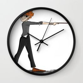 The Red Head Wall Clock