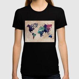 Cold World Map #map #worldmap T-shirt
