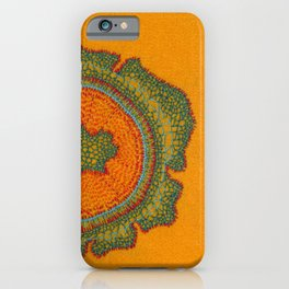 Growing -Taxus - embroidery based on plant cell under the microscope iPhone Case
