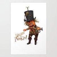 Rucus Studio Steam Punkin  Art Print