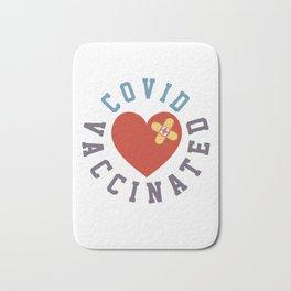 Vaccinated band-aid Heart  Bath Mat