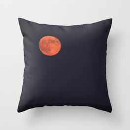 Beautiful red orb Throw Pillow