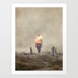 These cities burned my soul Art Print