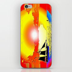 Sunset ship iPhone & iPod Skin