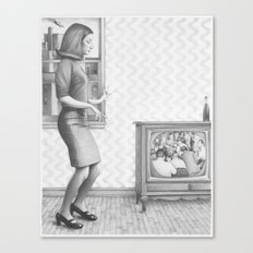 girl in a 2017 america Canvas Print