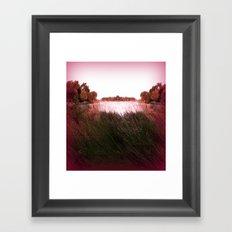 Manu Island Lake Framed Art Print