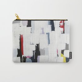 "No. 31 - Print of Original Acrylic Painting on canvas - 16"" x 20"" - (White and multi-color) Carry-All Pouch"