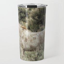 South Steens Stallion Alone on the Range Travel Mug
