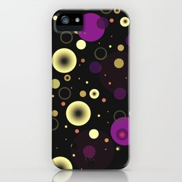 Circles with black iPhone Case
