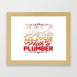 In love with Plumber Framed Art Print
