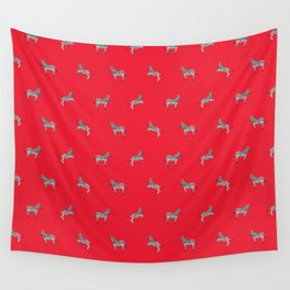 Red Zebras Wall Tapestry