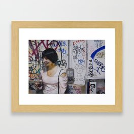 Graffiti Wall Framed Art Print