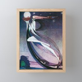 Kay Nielsen - A West Wind Carrying A Fairy Son On A Wicker Cradle Framed Mini Art Print