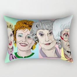 Golden Girls Multi-Colour Rectangular Pillow