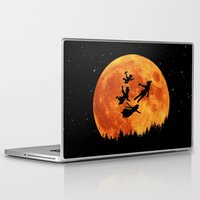 neverland Laptop & iPad Skins featuring Take Me To Neverland by alifart