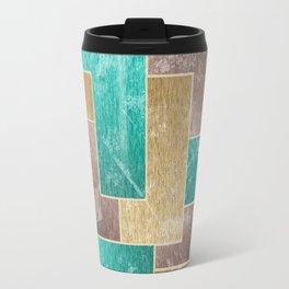Mod Retro Digital Graphic Old Worn Velveteen Tile Travel Mug
