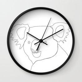 Koala - Minimal line drawing Wall Clock