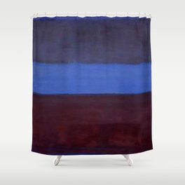 No.61 Rust and Blue 1953 by Mark Rothko Shower Curtain