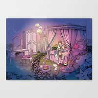 fairy tale Canvas Prints featuring Fairy Tale by Katie Badenhorst