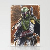 boba Stationery Cards featuring Boba Fett by KristinMillerArt