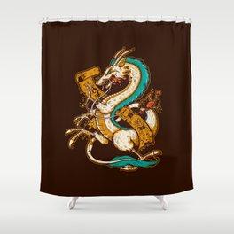 SPIRITED CREST Shower Curtain