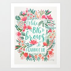 Big Brows – Juicy Palette Art Print