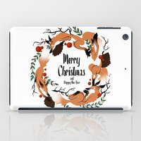 merry christmas iPad Cases featuring Merry Christmas by Anya Volk