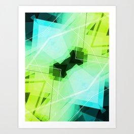 Revive - Geometric Abstract Art Art Print