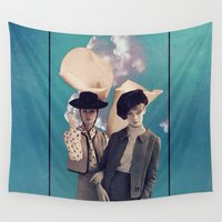twins Wall Tapestries featuring 'Lilly Twins' by Thom Easton