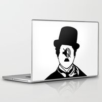 charlie chaplin Laptop & iPad Skins featuring Charlie Chaplin by NotNorrah