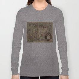 Vintage Map of South America (1606) Long Sleeve T-shirt