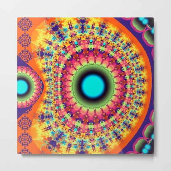 Colourful fantasy pattern Metal Print