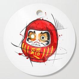 Daruma Digital Drawing, Japanese Art, Watercolor, Daruma Print Cutting Board