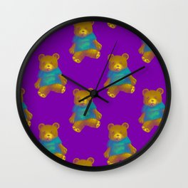 TEDDY BEAR PATTERN Wall Clock