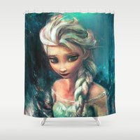 elsa Shower Curtains featuring The Storm Inside by Alice X. Zhang