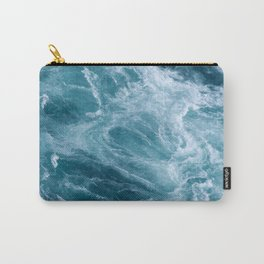 Ocean Storm | Classic Blue | Landscape Photography | Beach | Water | Aerial View Carry-All Pouch