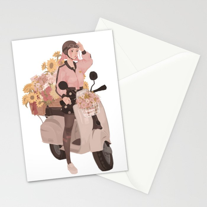 Monas delivery service stationery cards by punziella society6 m4hsunfo