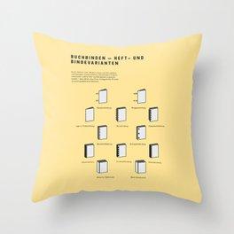 Buchbinden – Heft- und Bindevarianten Throw Pillow