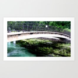 Water's Just Right Art Print