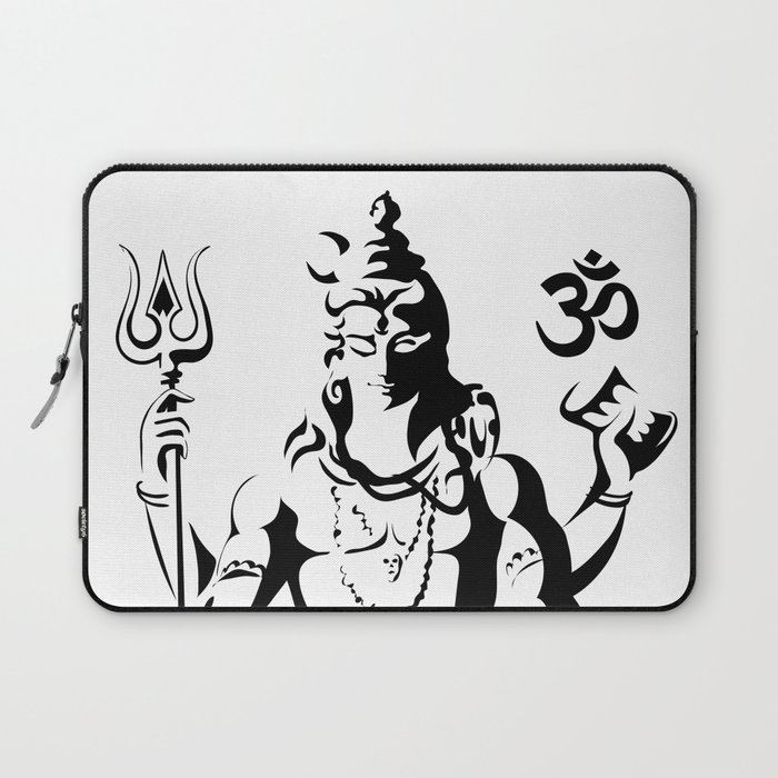 Shiva Drawing Parvati Sketch Laptop Sleeve By Ergyselly Society6