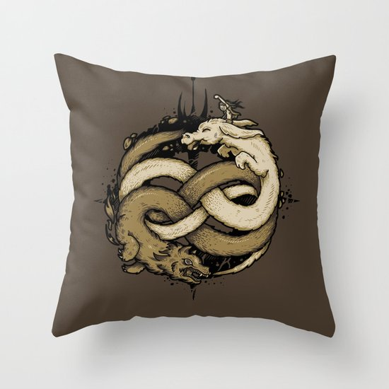 NEVERENDING FIGHT Throw Pillow