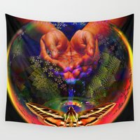 spice Wall Tapestries featuring Water is the Spice by Joseph Mosley