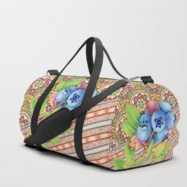Nouveau Rococo Blueberries Duffle Bag