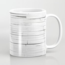 White Wooden Planks Wall Coffee Mug