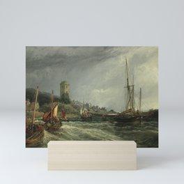 Dysart Harbour in 1854 by Sam Bough RSA Mini Art Print