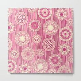 mandala cirque spot pink cream Metal Print